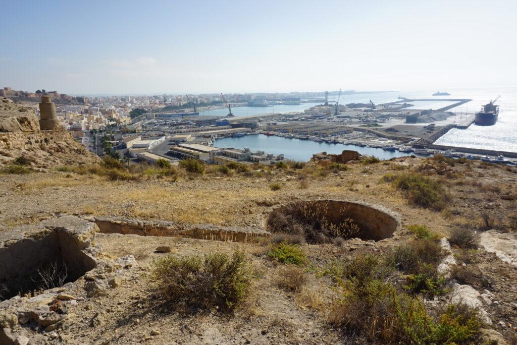 Puerto de Almería desde las canteras