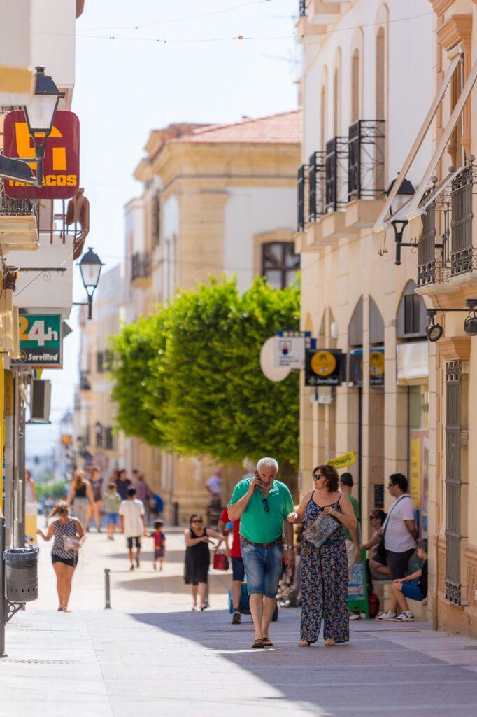 Calle comercial de Vera.