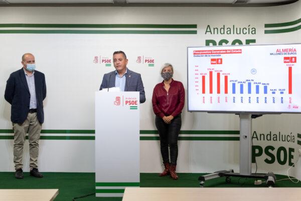 Antonio Martínez, Indalecio Gutiérrez y Sonia Ferrer, en rueda de prensa.