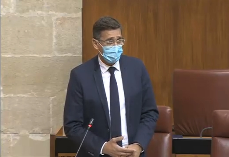 Intervención de José Luis Sánchez Teruel en el Parlamento de Andalucía