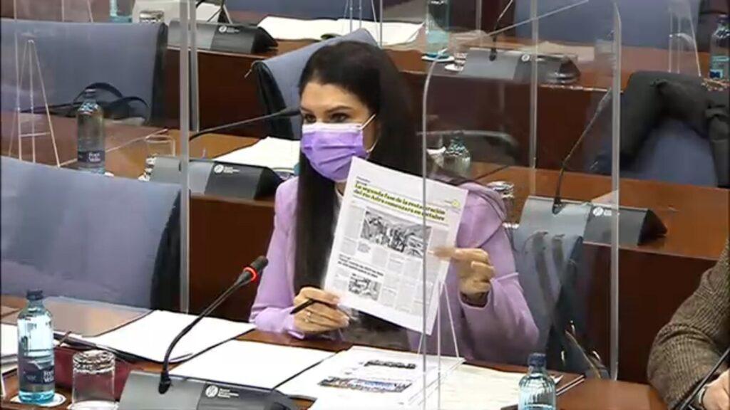 Noemí Cruz en la Comisión de Agricultura del Parlamento de Andalucía