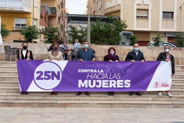 Acto conmemorativo del 25N que ha celebrado el PSOE de Almería.