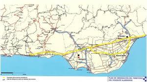 Foto del mapa ferroviario de la comarca del Poniente.