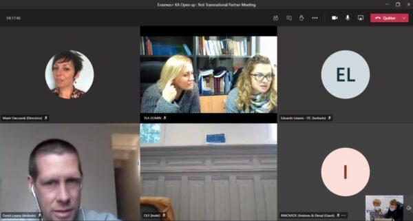 Videoconferencia del proyecto Erasmus + 'Open Up'