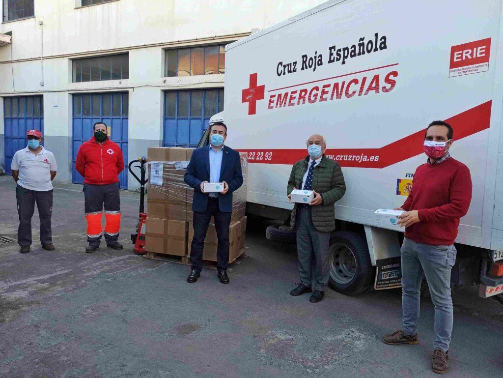 Reparto de mascarillas del Gobierno de España.