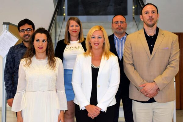 Foto de archivo del Grupo Municipal en el Ayuntamiento de Adra.