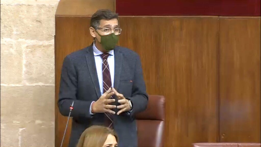 José Luis Sánchez Teruel, en el Parlamento de Andalucía