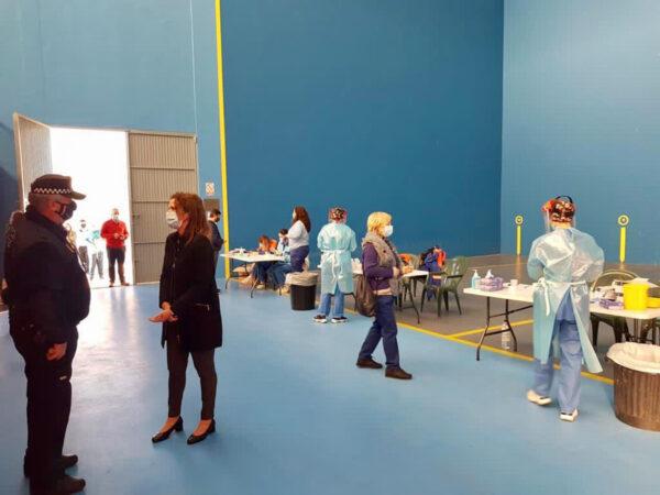 Test de antigenos realizado en el frontón municipal de Benahadux.