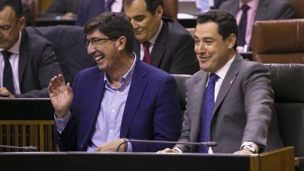 Juan Marín y Juan Manuel Moreno Bonilla