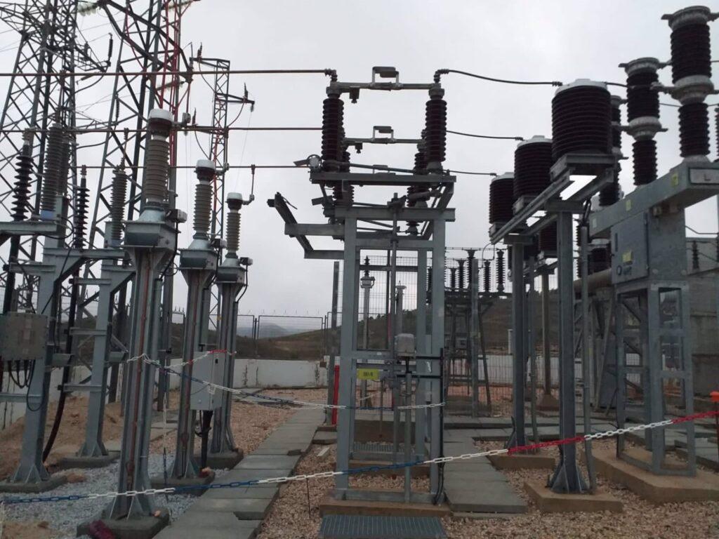 Subestación eléctrica en Los Vélez.