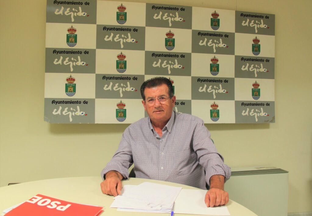 José Miguel Alarcón, concejal del Grupo Municipal Socialista en el Ayuntamiento de El Ejido