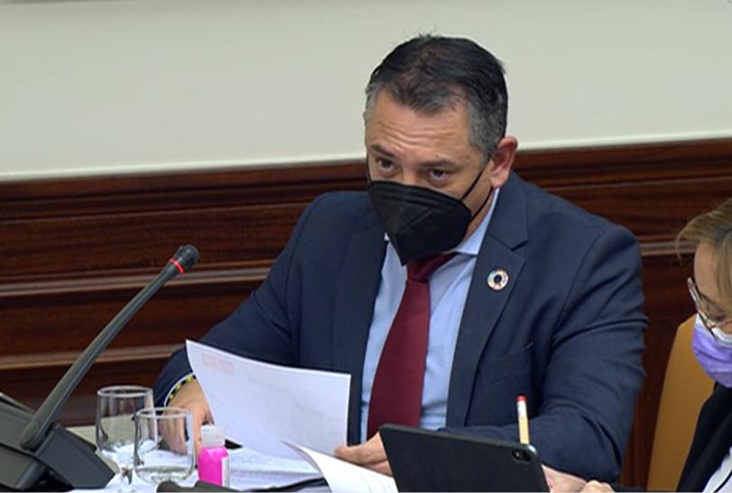 Indalecio Gutiérrez, en la Comisión de Agricultura del Congreso de los Diputados