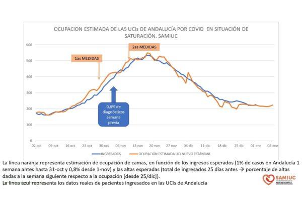 Algunos datos del informe de la Sociedad Andaluza de Medicina Intensiva y Unidades Coronarias