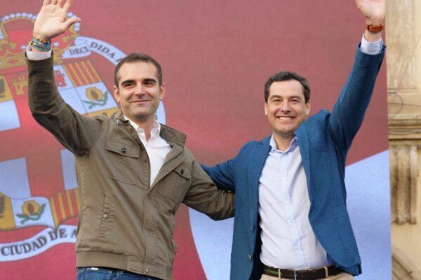 El alcalde de Almería junto a Moreno Bonilla