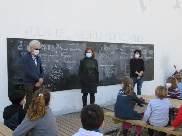 El presidente del GEM en el colegio Mar Mediterráneo.