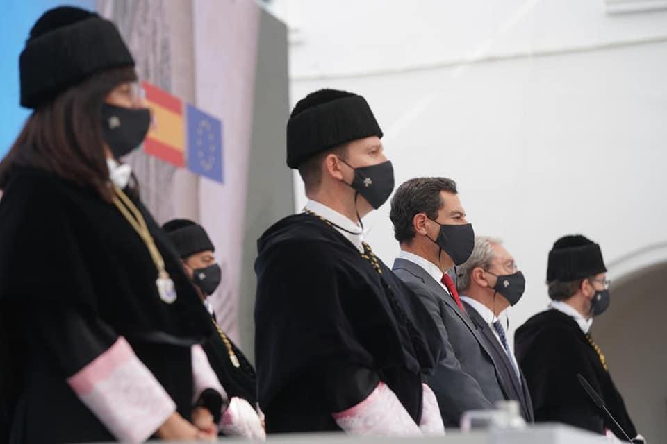 Moreno Bonilla en un acto universitario