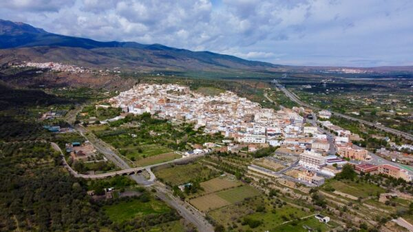 Vista aérea del municipio de Abla