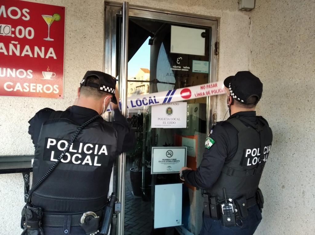 Operativo policial en El Ejido.