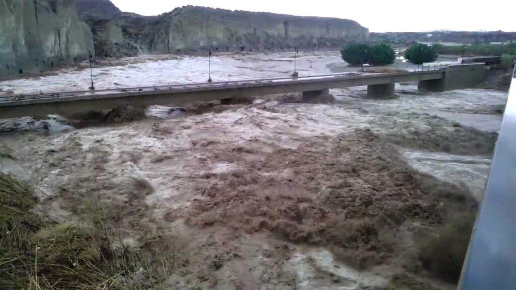 El río Antas, desbordado.
