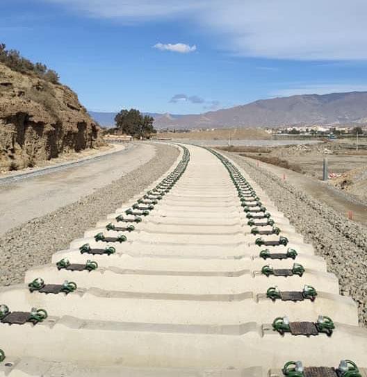 Obras del soterramiento del tren a su paso por El Puche