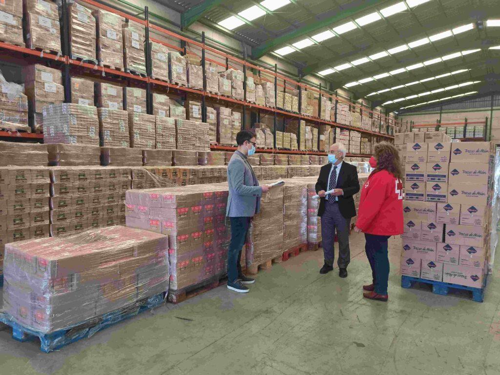 Visita centro distribución Cruz Roja Programa Ayuda Alimentaria