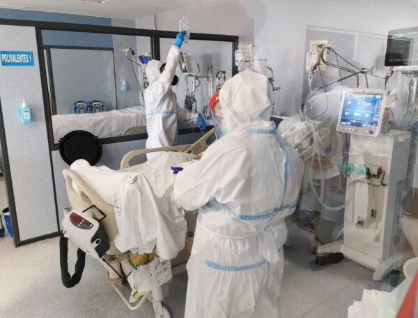 Zona Covid del Hospital de Torrecárdenas