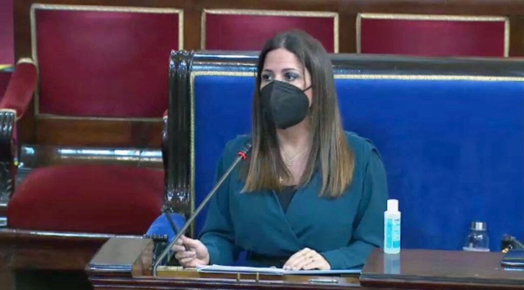 foto PSOE Inés Plaza García en el Senado