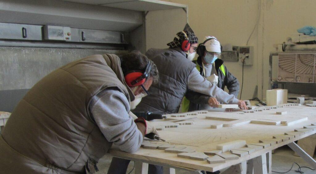 Prácticas itinerario artesanía Escuela Mármol mar21