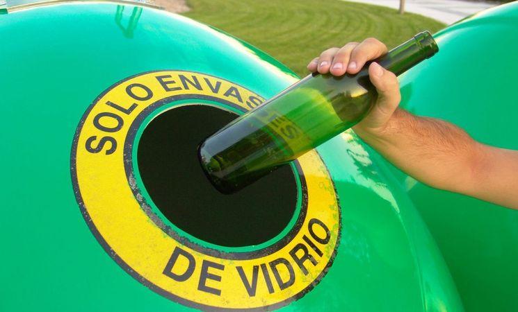 Foto reciclaje vidrio