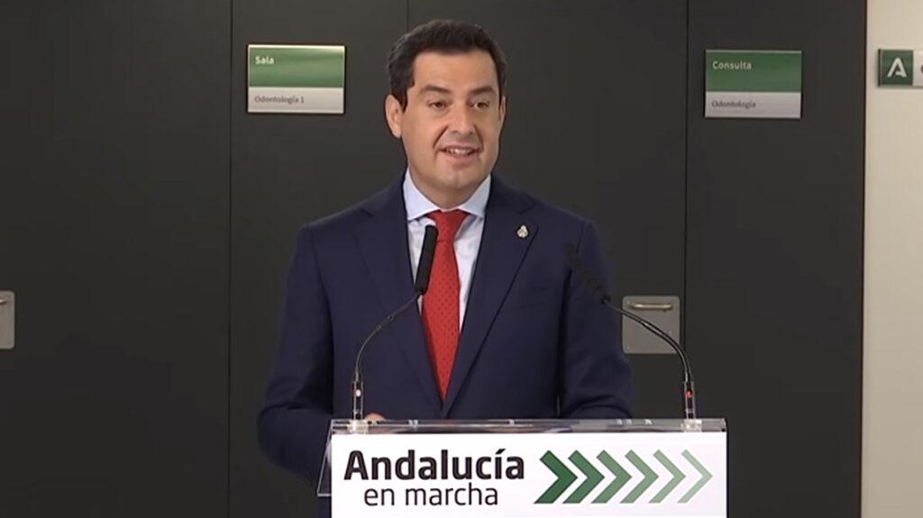 El presidente andaluz, Moreno Bonilla, en su visita a Almería el pasado viernes