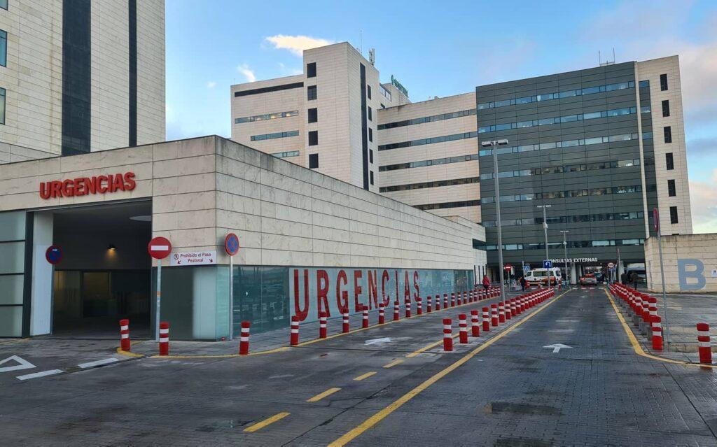 Entrada a urgencias de un hospital
