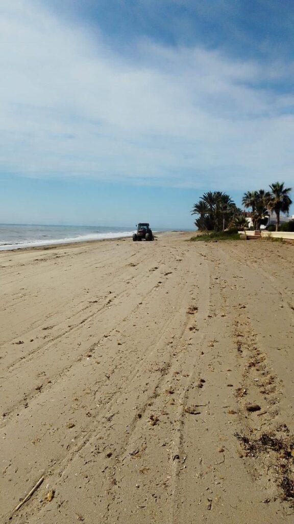 Adecuación de la playa.