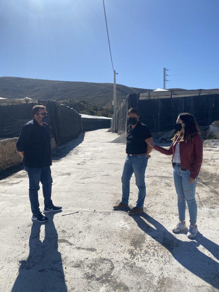 Camino del Rincón, en Dalías.