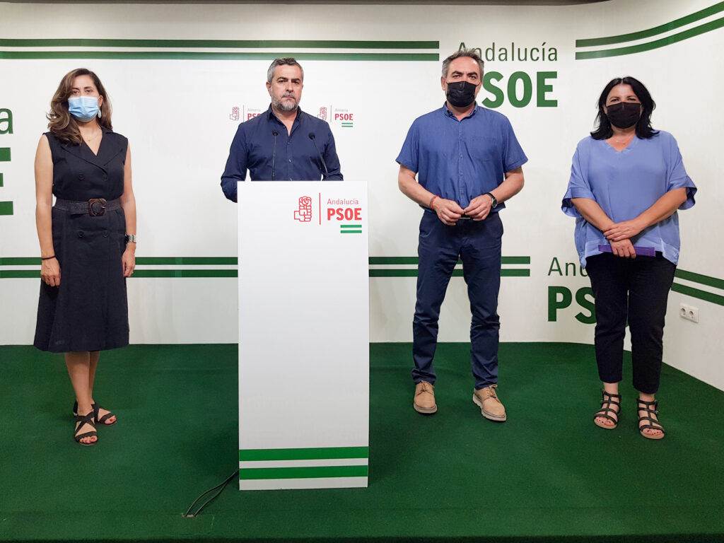 Carmen Aguilar, Juan Antonio Lorenzo, Marcelo López y María González, en rueda de prensa