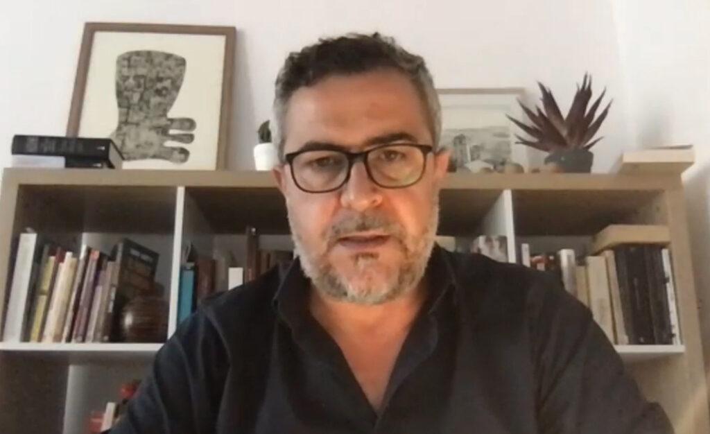 Juan Antonio Lorenzo Cazorla portavoz del PSOE en Diputación en el pleno telemático de esta mañana