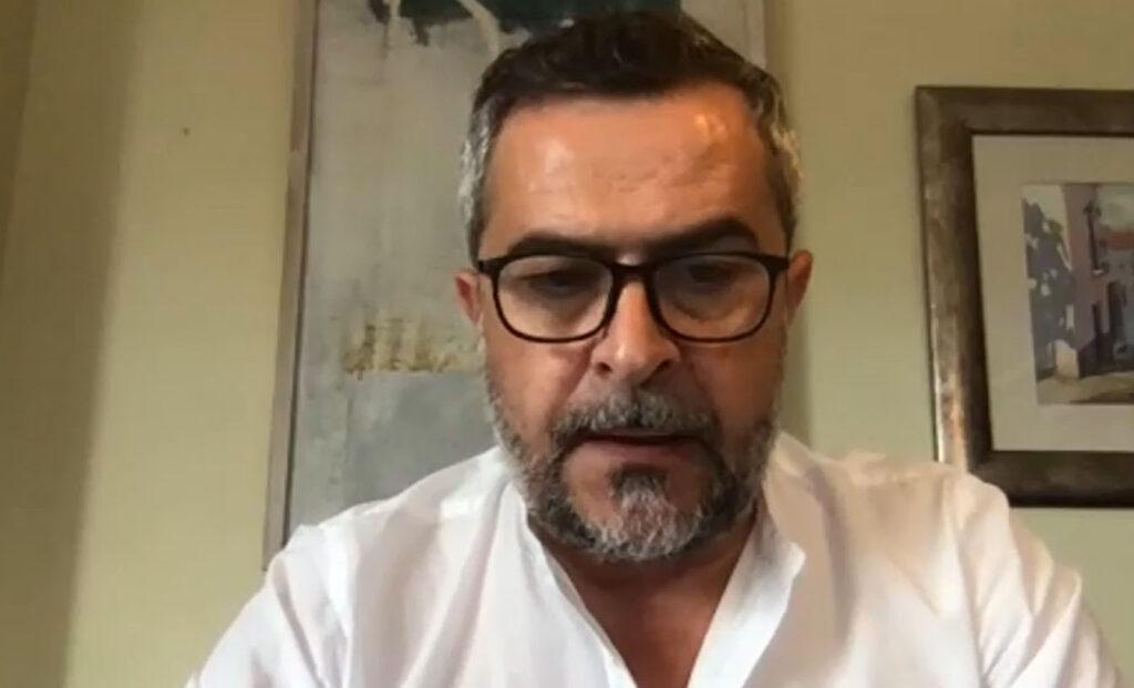 Juan Antonio Lorenzo Cazorla, portavoz PSOE Diputación, hoy, en pleno