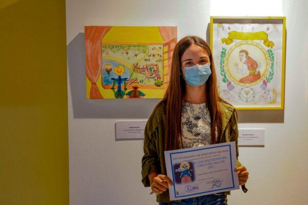 La ganadora del concurso Ana Fernández