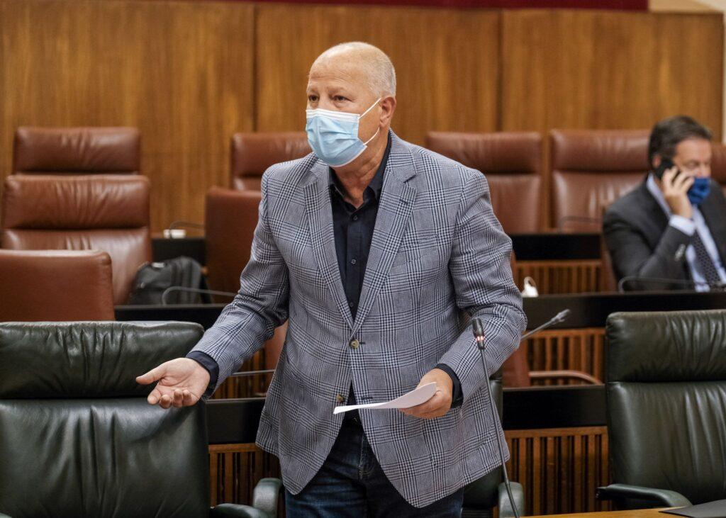 Javier Imbroda, en el Parlamento de Andalucía