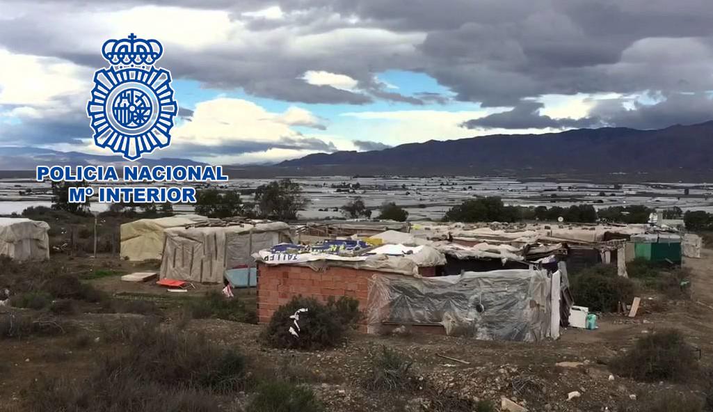 Operación policial en El Ejido.