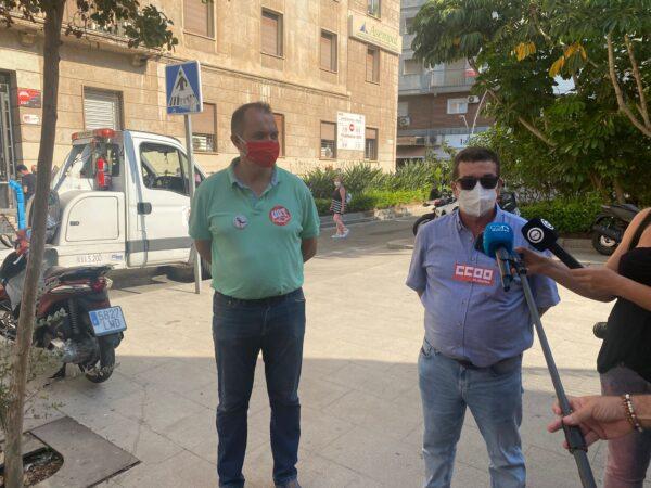 CCOO y UGT manifestación laboral