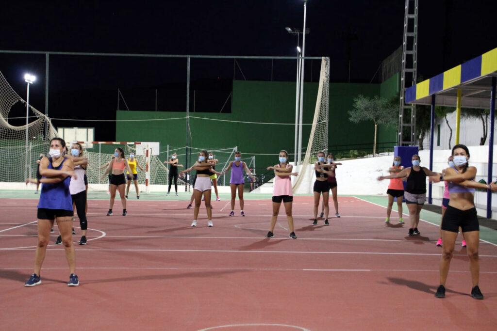 Fiesta de fitness en Tabernas.