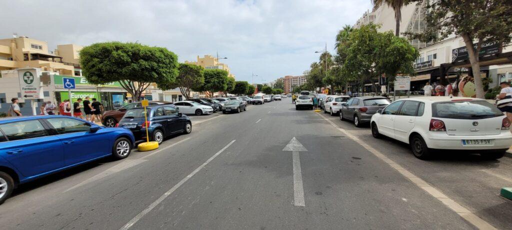Tráfico en la Urbanización de Roquetas