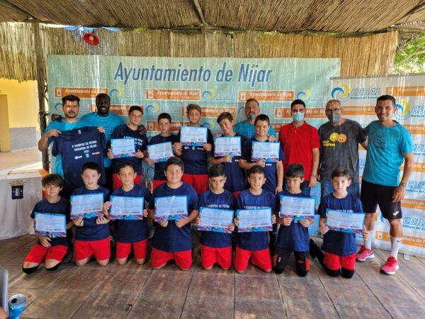Algunos ganadores de la prueba deportiva.