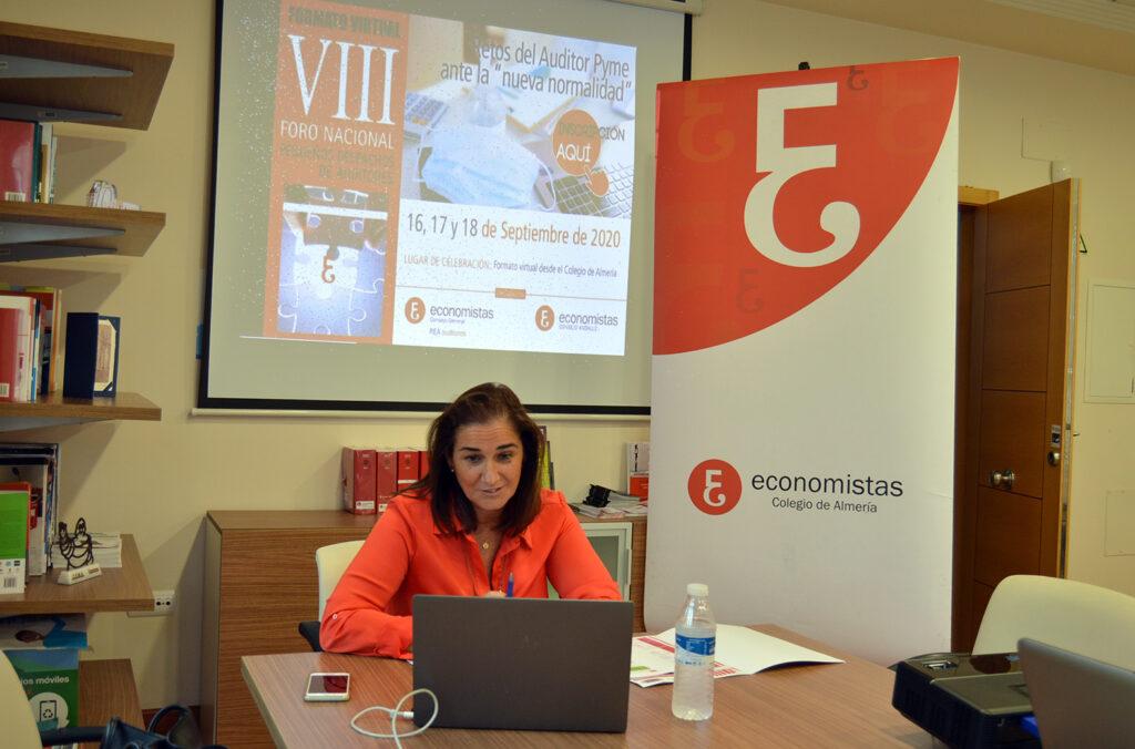 210922 Economistas-Ana Moreno Foro Nacional celebrado virtual en 2020