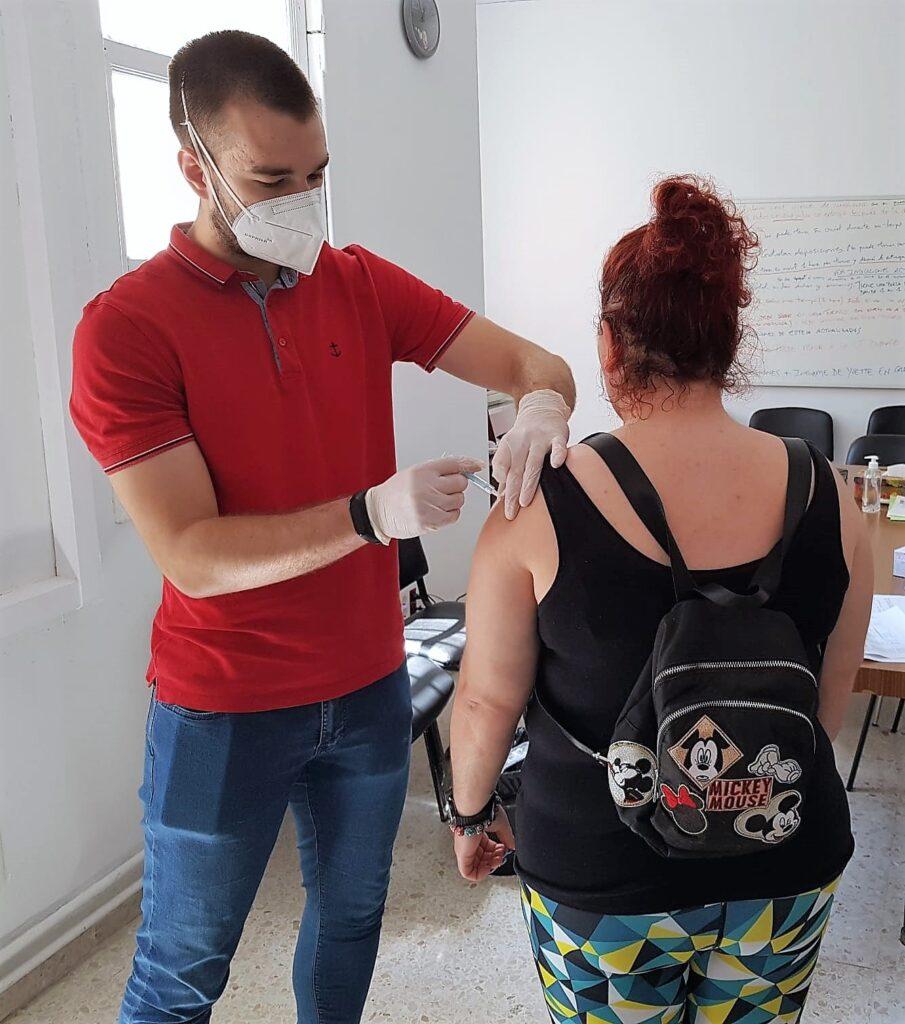 Vacunación en hospital