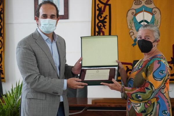 alcalde e Isabel Fuentes Conde