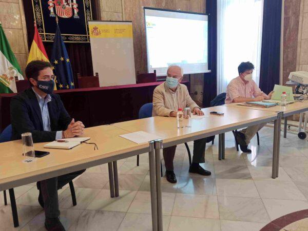 Reunión Subdelegación Costas Ayto El Ejido situaciòn playa Balerma